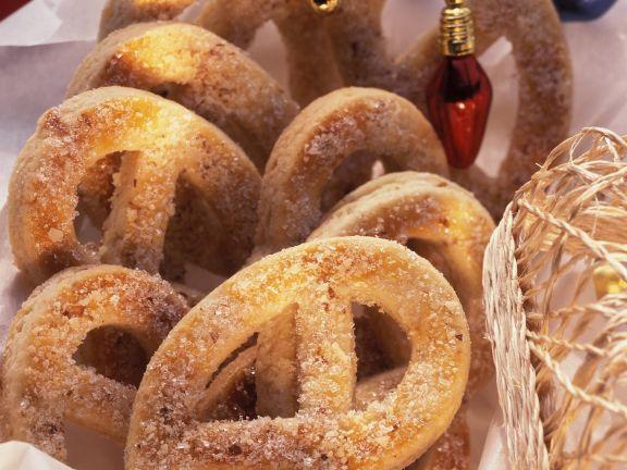 Süße Brezeln zu Weihnachten