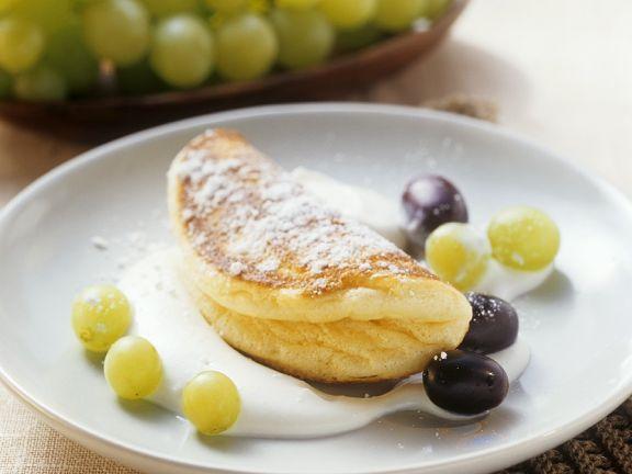 Süße Omelettes mit Quarkcreme
