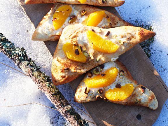 Süße Orangen-Ricotta-Pizza