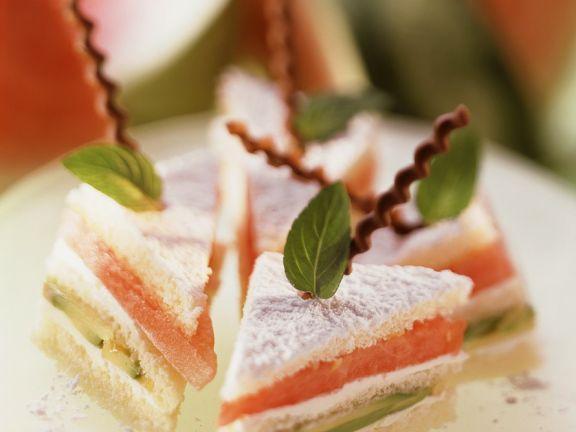 Süße Sandwiches
