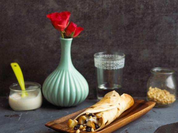 Süße Tortilla mit Birne