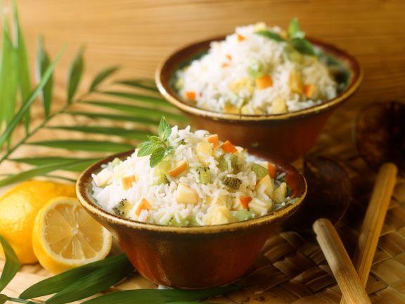 Süßer Reis mit Früchten