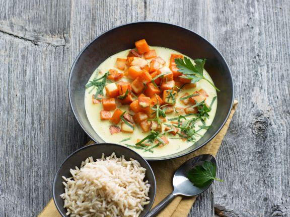 Süßkartoffel-Curry mit Basmatireis