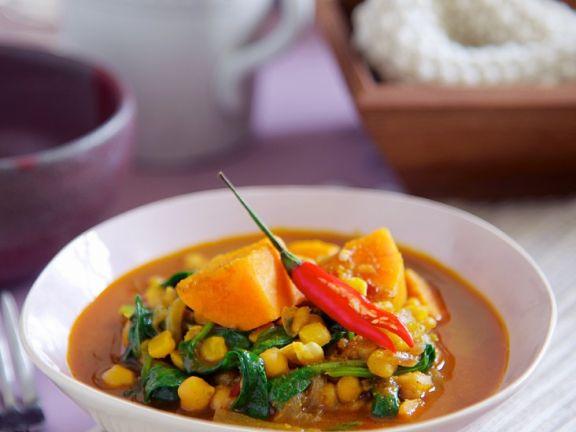 Süßkartoffel-Kichererbsencurry