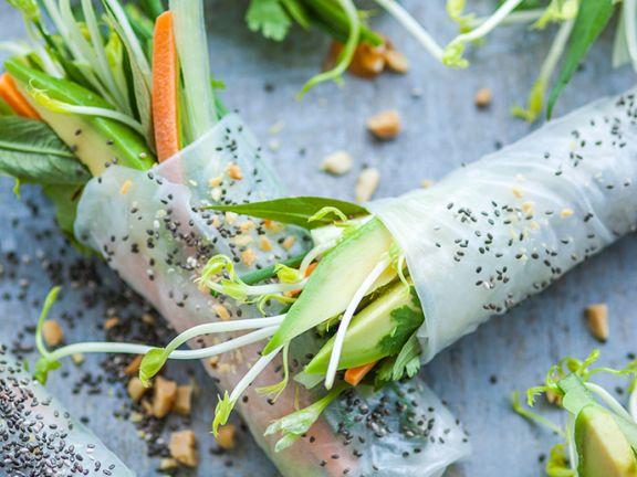 Superfood-Rolls mit Gemüsefüllung