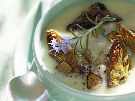 Suppe aus Artischocken