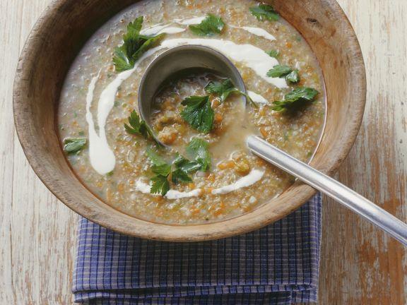 Suppe mit Badischem Reis (Grünkern)