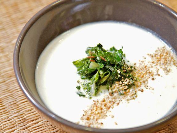 Suppe mit Hafermilch
