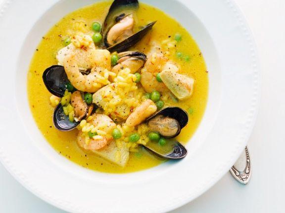 Suppe nach Paella-Art