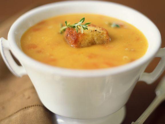 Suppe vom Butternusskürbis