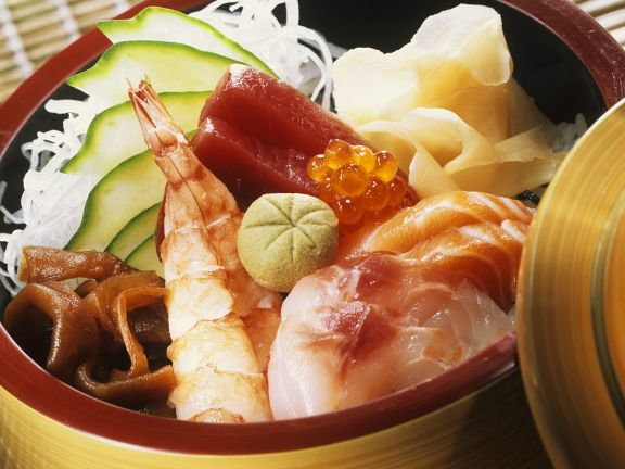 Sushi mit Kürbis