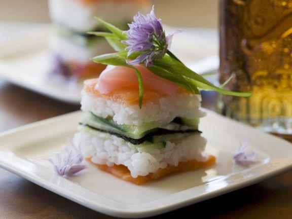 Sushi mit Lachs