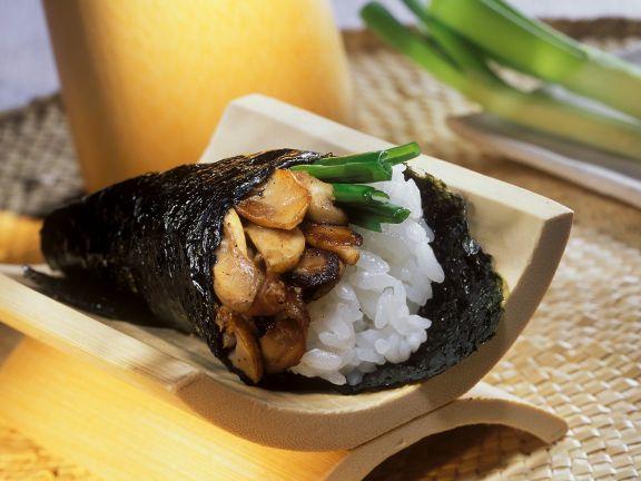 Sushi-Tüte mit Pilzen