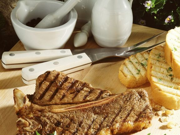 T-Bone-Steaks vom Grill