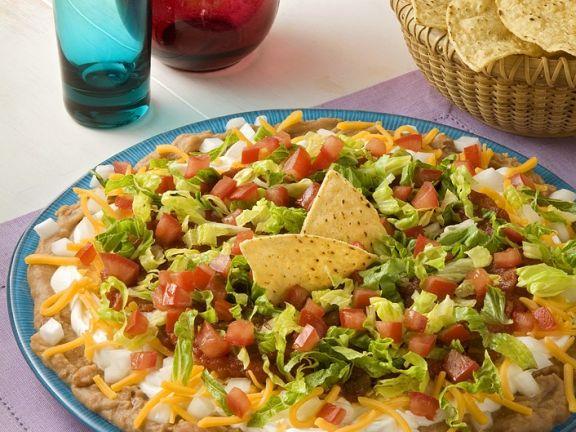 Tacos mit Bohnen-Gemüsedip