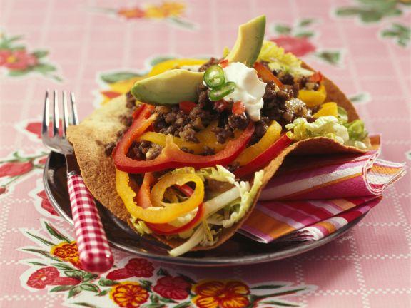 Tacos mit Rindfleisch und Paprika