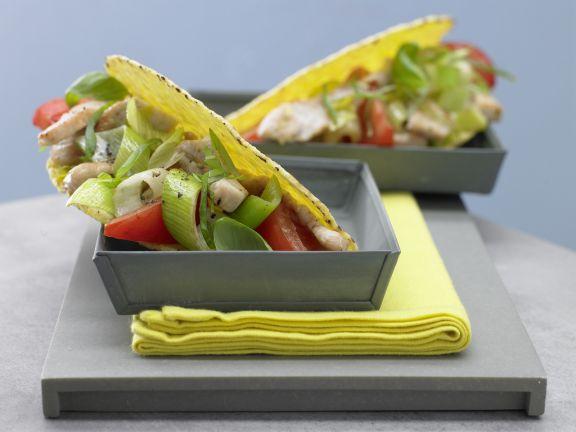 Tacos mit Putenfleisch