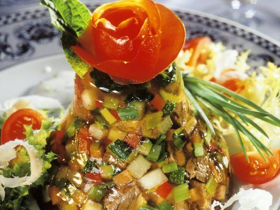 Tafelspitz-Gemüse-Gelee