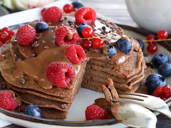 Tahini-Schokoladen-Pancakes