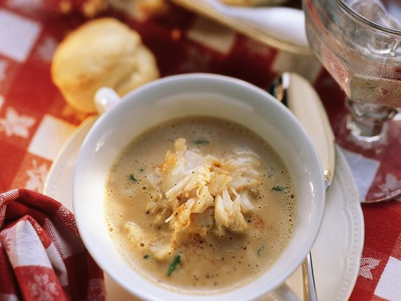 Taschenkrebs-Suppe