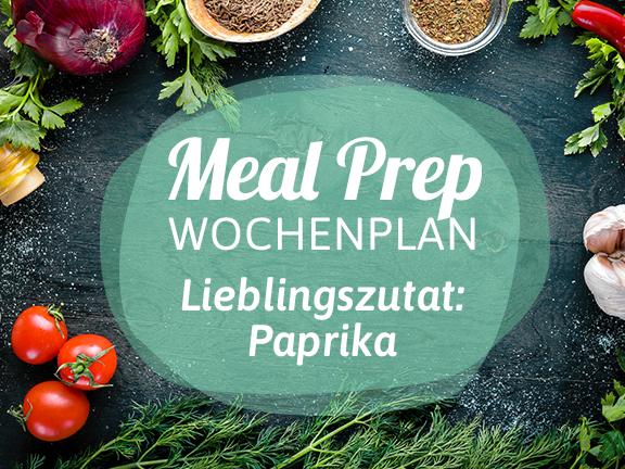 Meal-Prep-Wochenplan Paprika