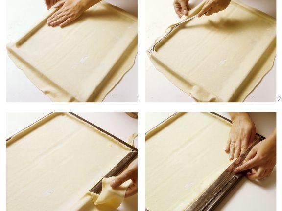 Teigauslegen für Blechkuchen