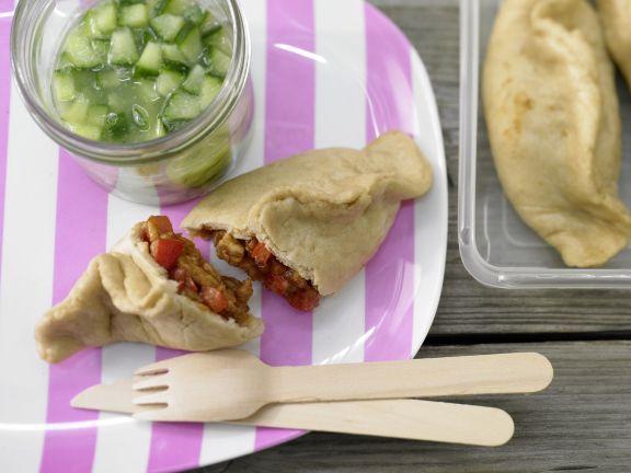 Teigtaschen mit Putenbrust und Paprika