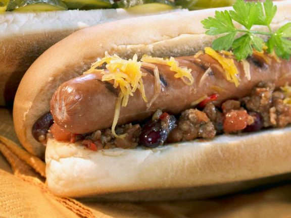 Texas Chili Dogs