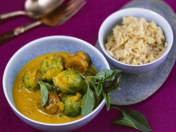 Thai-Curry mit Rosenkohl und Kastanien