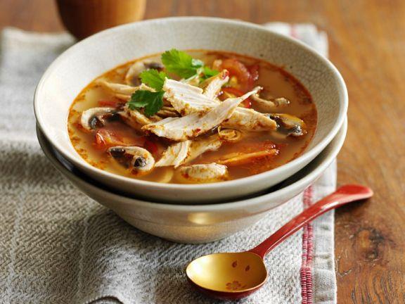 Thai-Kokossuppe mit Huhn