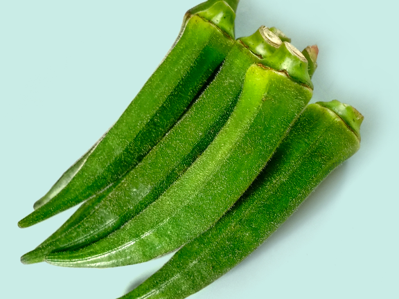Okras – auch Ladyfingers genannt – sind bei uns noch eine kulinarische Seltenheit