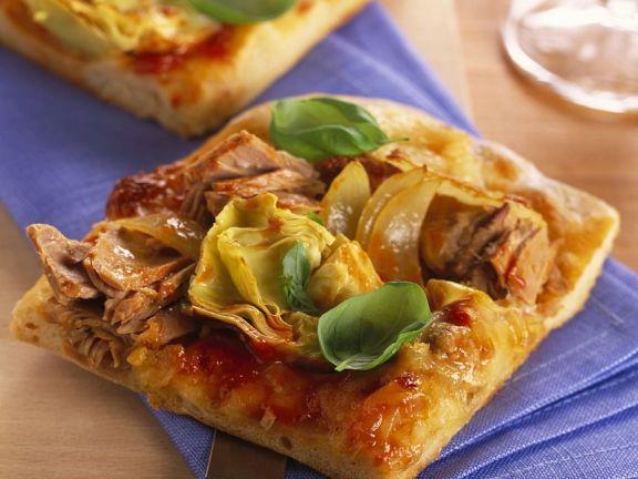 Thunfisch-Blechpizza