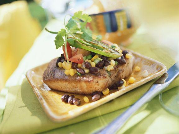 Thunfisch mit Bohnengemüse