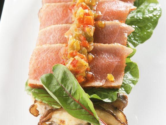 Thunfisch mit Gemüseconfit