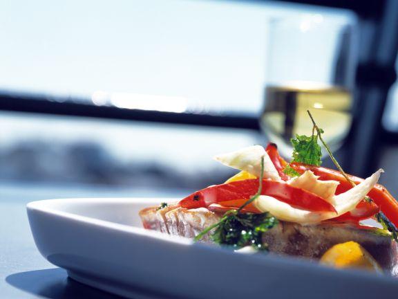 Thunfisch mit Kokos-Gemüse
