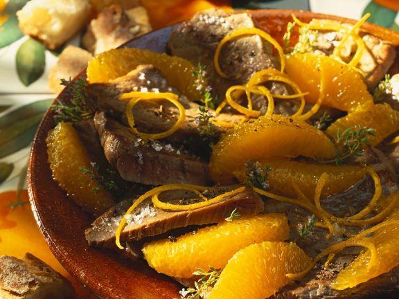 Thunfisch mit Orangensauce