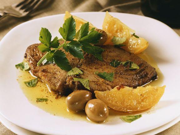 Thunfisch mit Zitronensauce