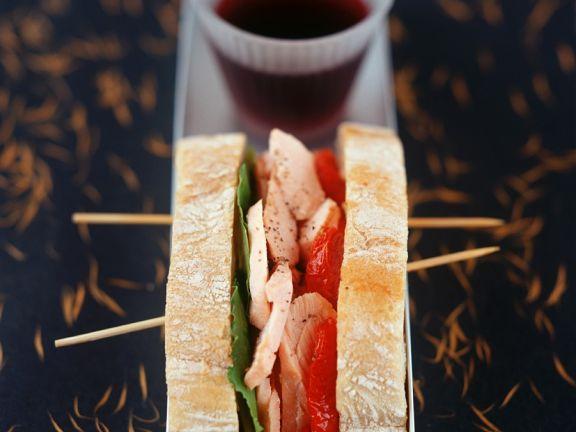 Thunfisch-Paprika-Sandwich