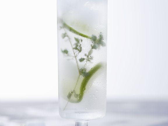 Thymian-Limonaden-Cocktail mit Wodka