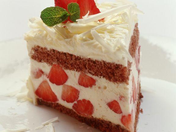 Tiramisu-Torte mit Erdbeeren