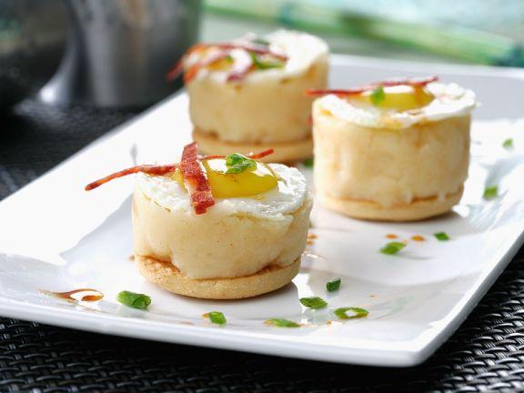 Toasties mit Kartoffelcreme und Wurst