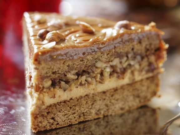 Toffee-Haselnuss-Torte