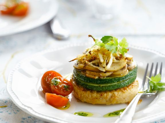Tofu-Frikadelle mit Zucchini