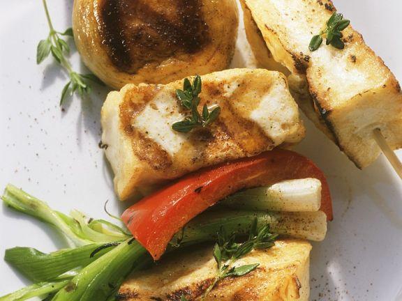 Tofu-Gemüsespieße vom Grill