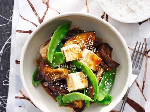 Tofu mit Auberginen