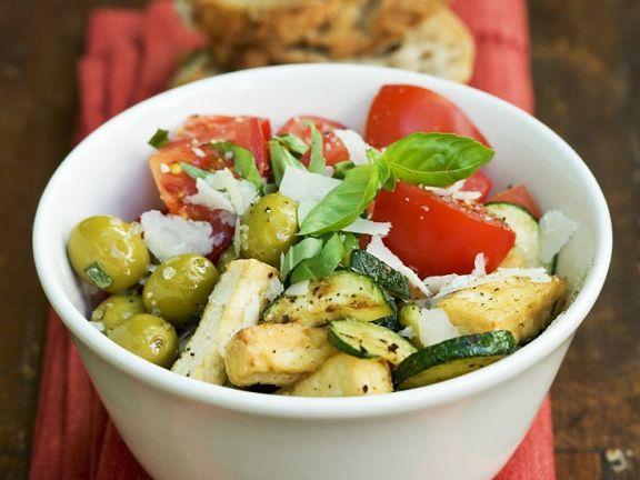 Tofu mit mediterranem Gemüse