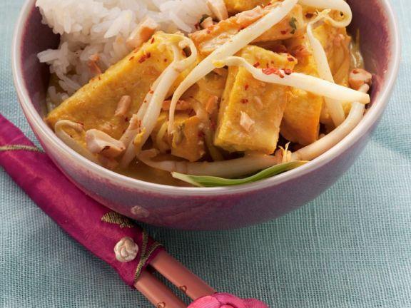 Tofu mit Sprossen