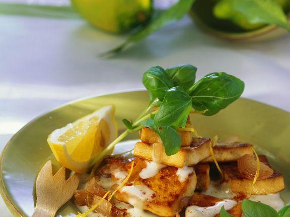 Tofu mit Zitronensauce