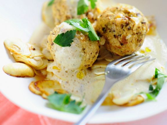 Tofu-Pilzklößchen