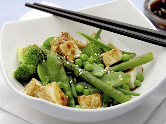 Tofu-Spargel-Pfanne